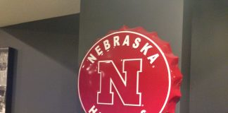 Nebraska Cornhusker Bottlecap Sign
