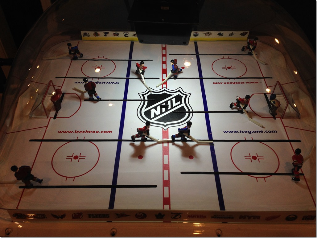bubble hockey after LED picture