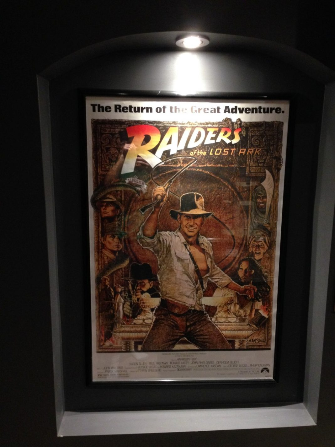 Movie poster single lighted wall alcove