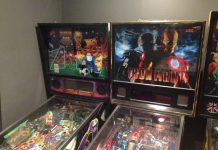 World Cup Soccer and Iron Man pinball machines