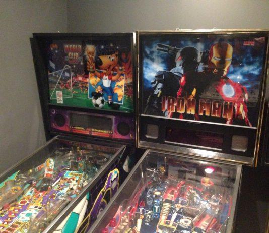 World Cup Soccer and Iron Man pinball machines