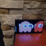 PAC-MAN arcade LED clock