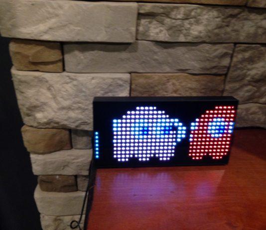Pac-man clock ghosts moving through
