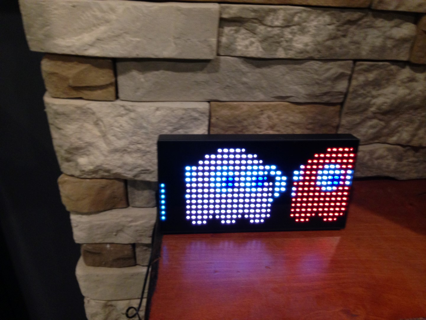 Pac-man clock ghosts moving through
