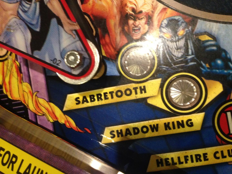 X-Men pinball machine before cleaning