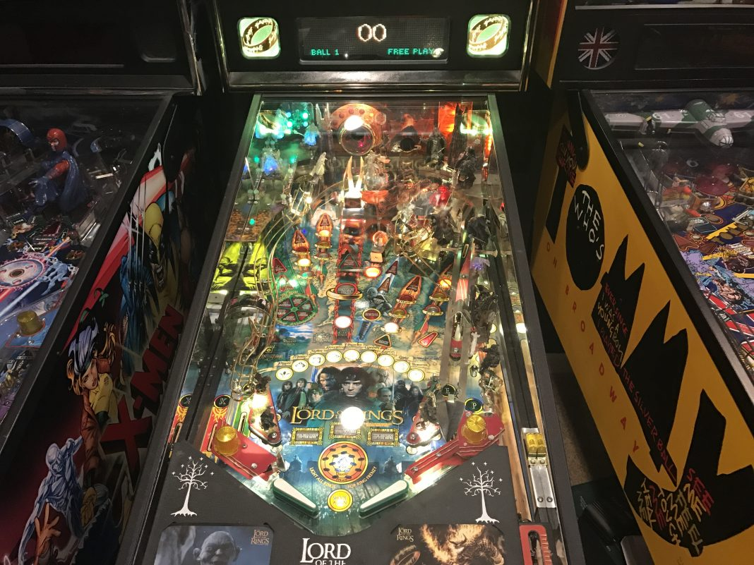 Lord of the Rings pinball machine with LED's