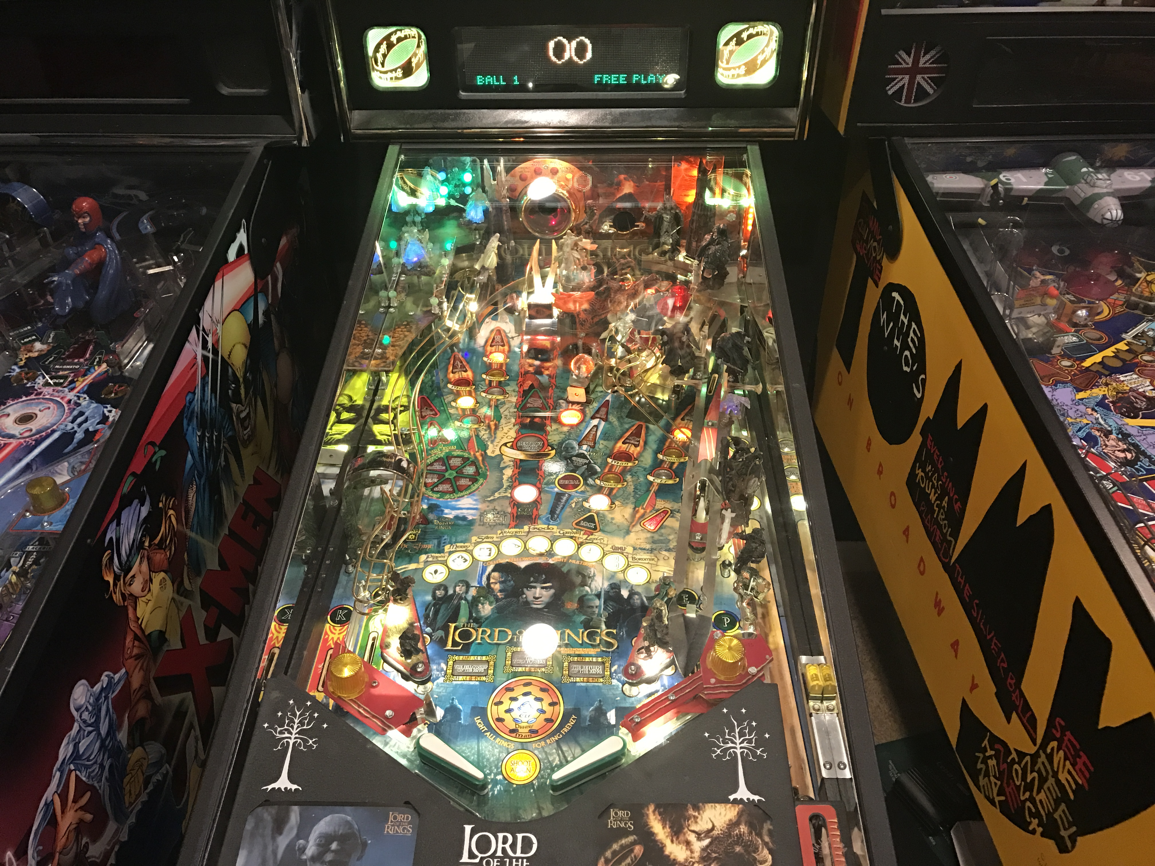 lord of the rings pinball machine game room info