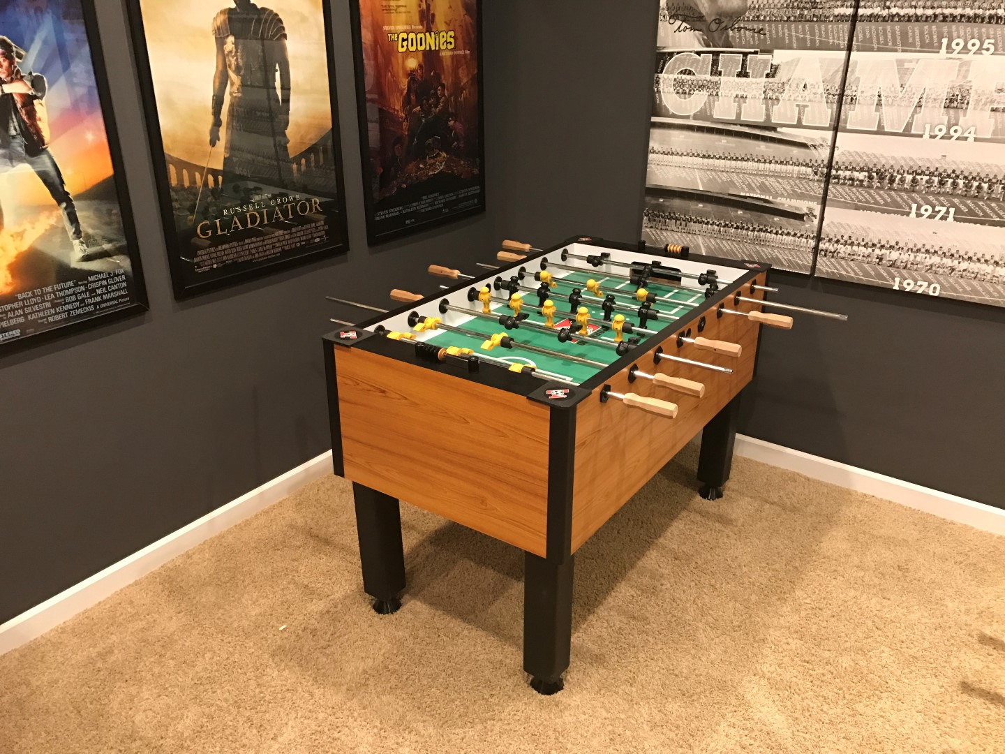How Much Room Do You Need For A Foosball Table Game Room Info - How much does a foosball table cost