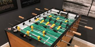 Tornado Foosball table with sound system added