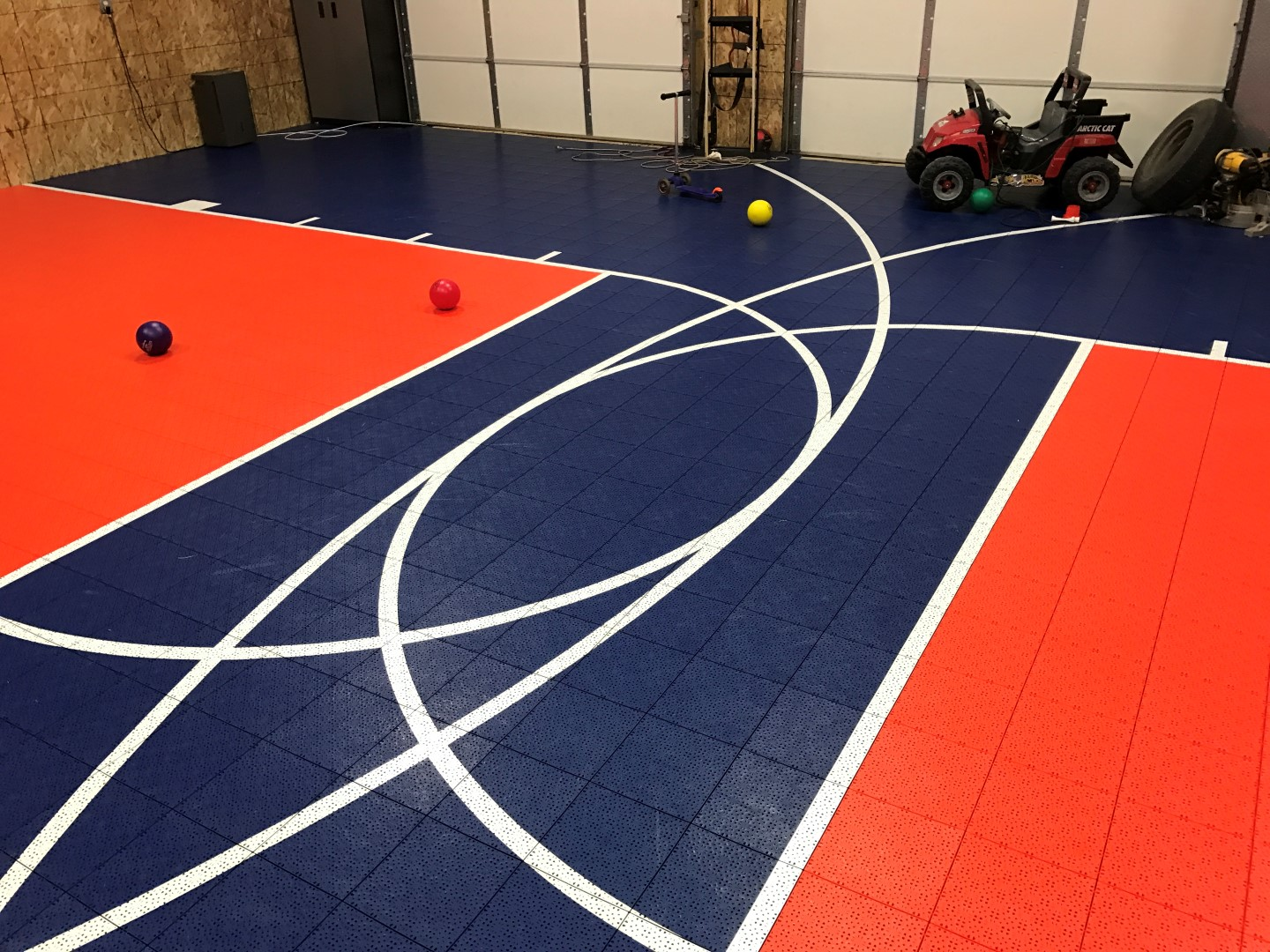 Versacourt home gym game room info for Built in basketball court