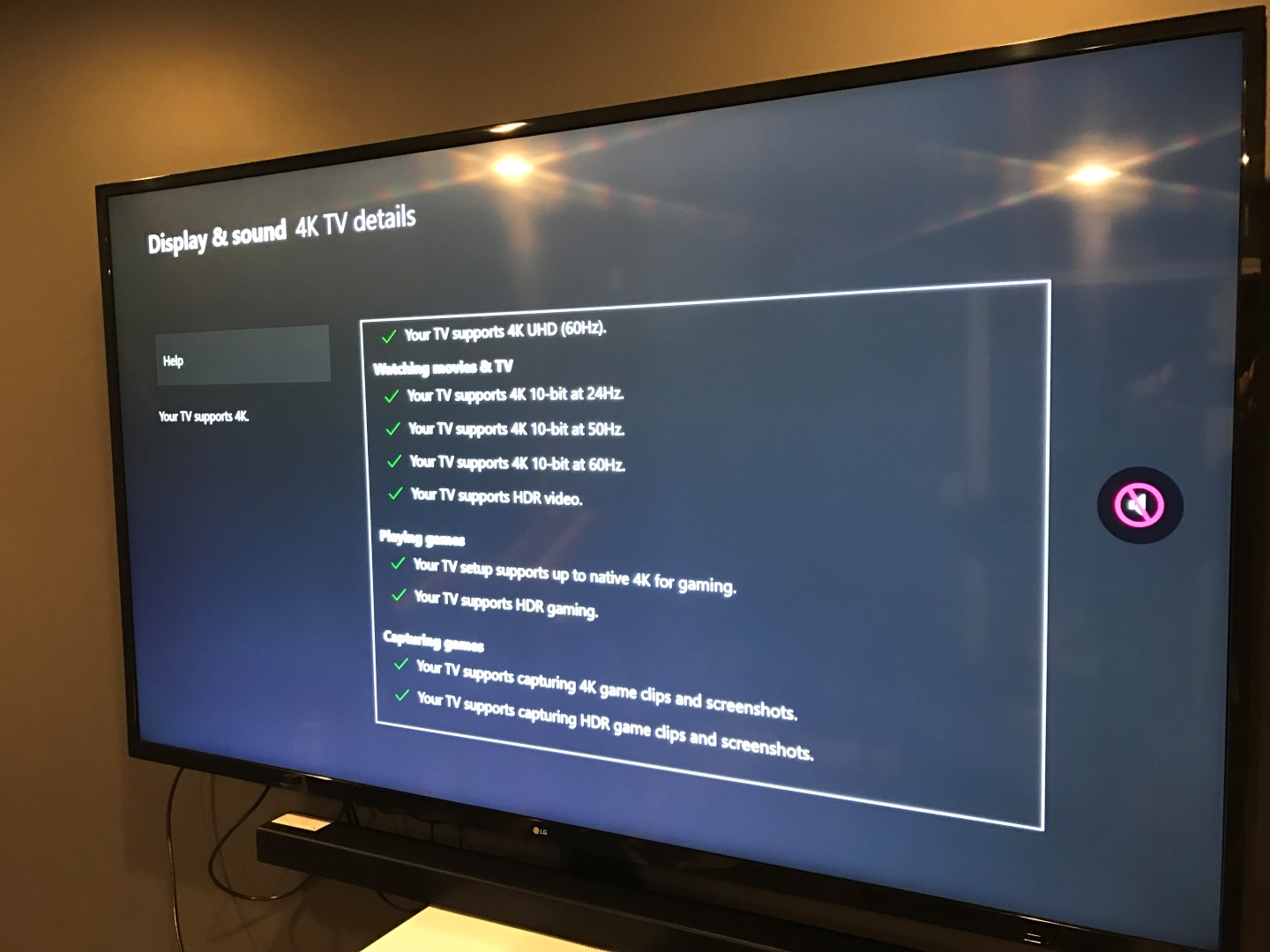 LG UJ6200 TV Xbox One X settings