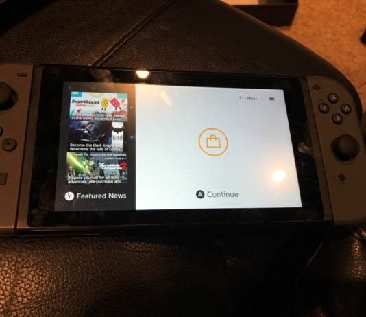 Nintendo Switch Home Screen