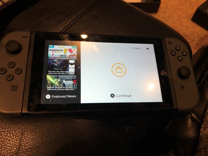 Nintendo Switch Home Screen