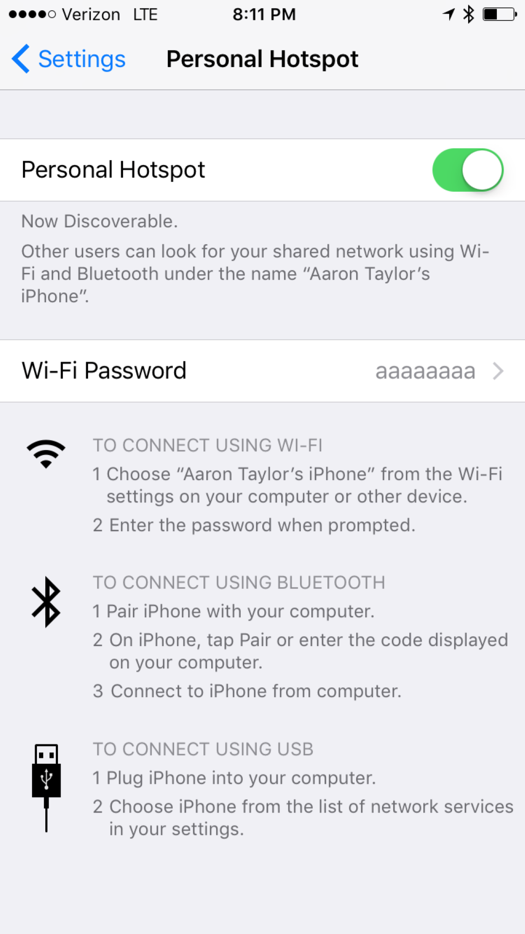 iPhone Hotspot Picture