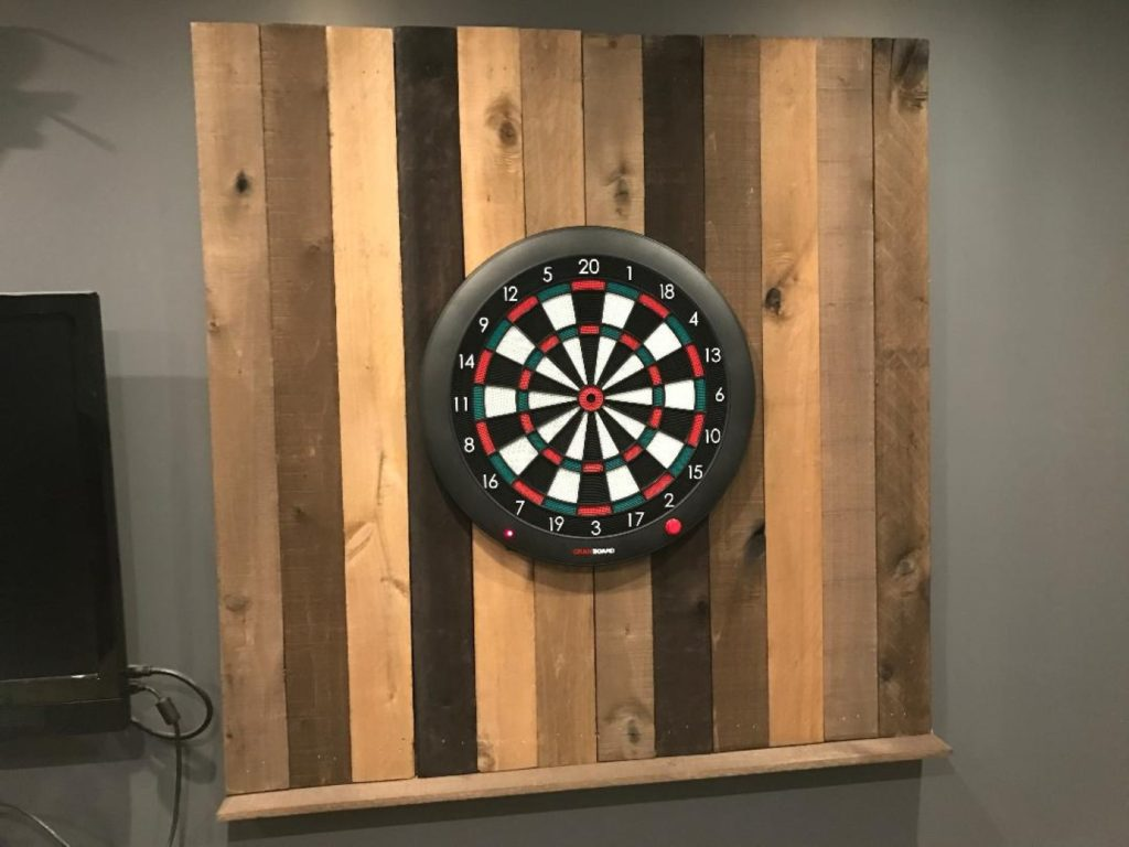 dart board wall final setup
