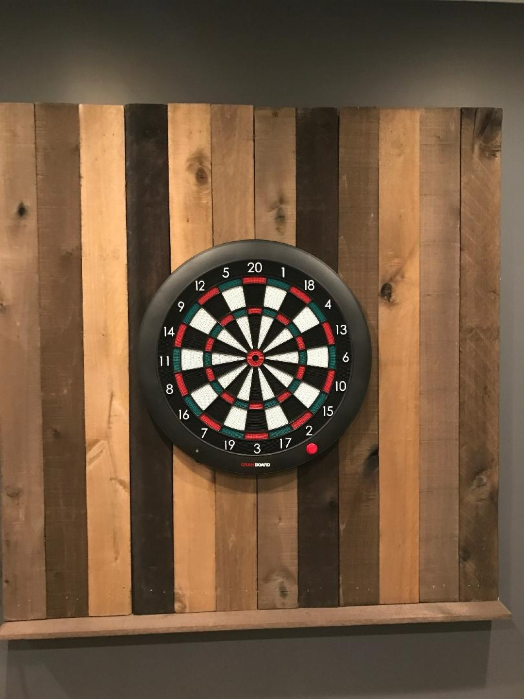 reclaimed wood dart board wall final