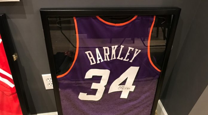 Charles Barkley Framed Jersey