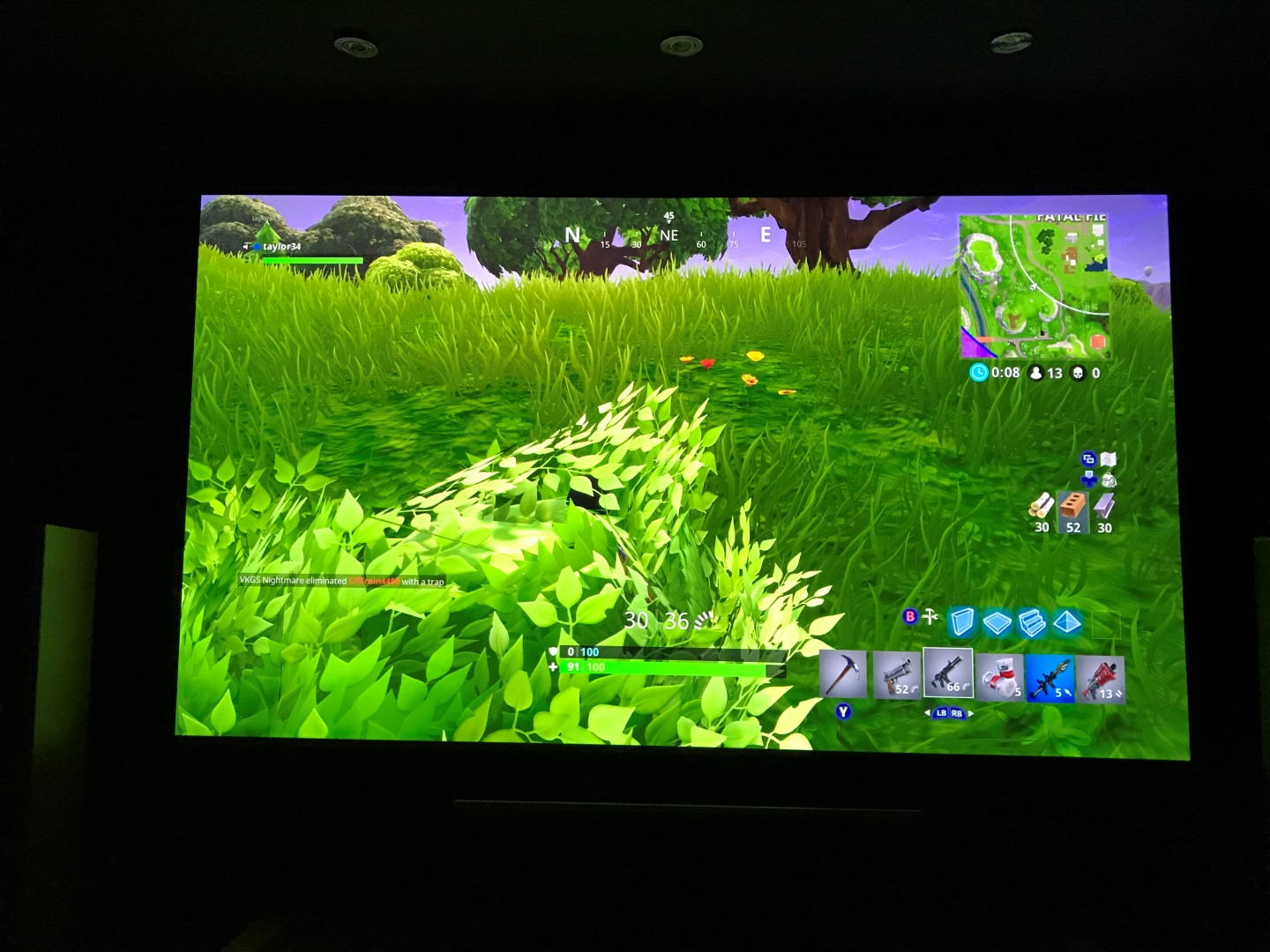 Fortnite bush camping