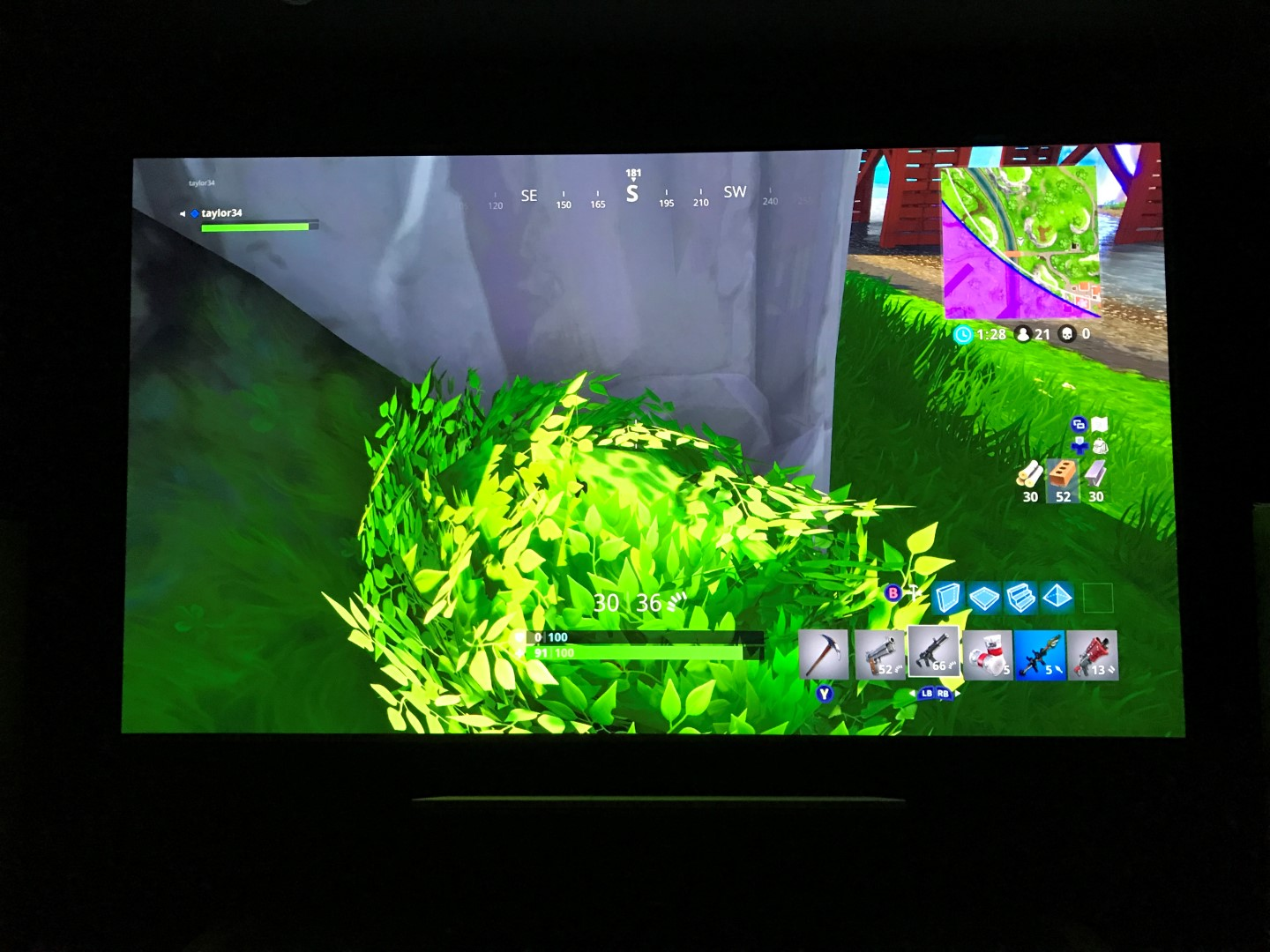 Fortnite perfect hiding spot