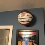 Autographed Basketball Wall Display