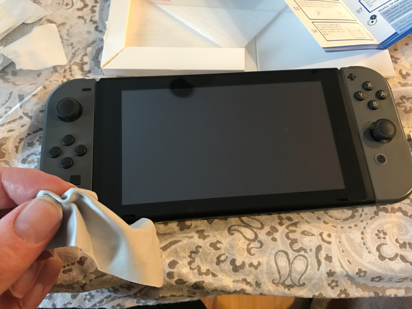 Cleaning the Switch Screen