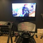 Working out while playing video games