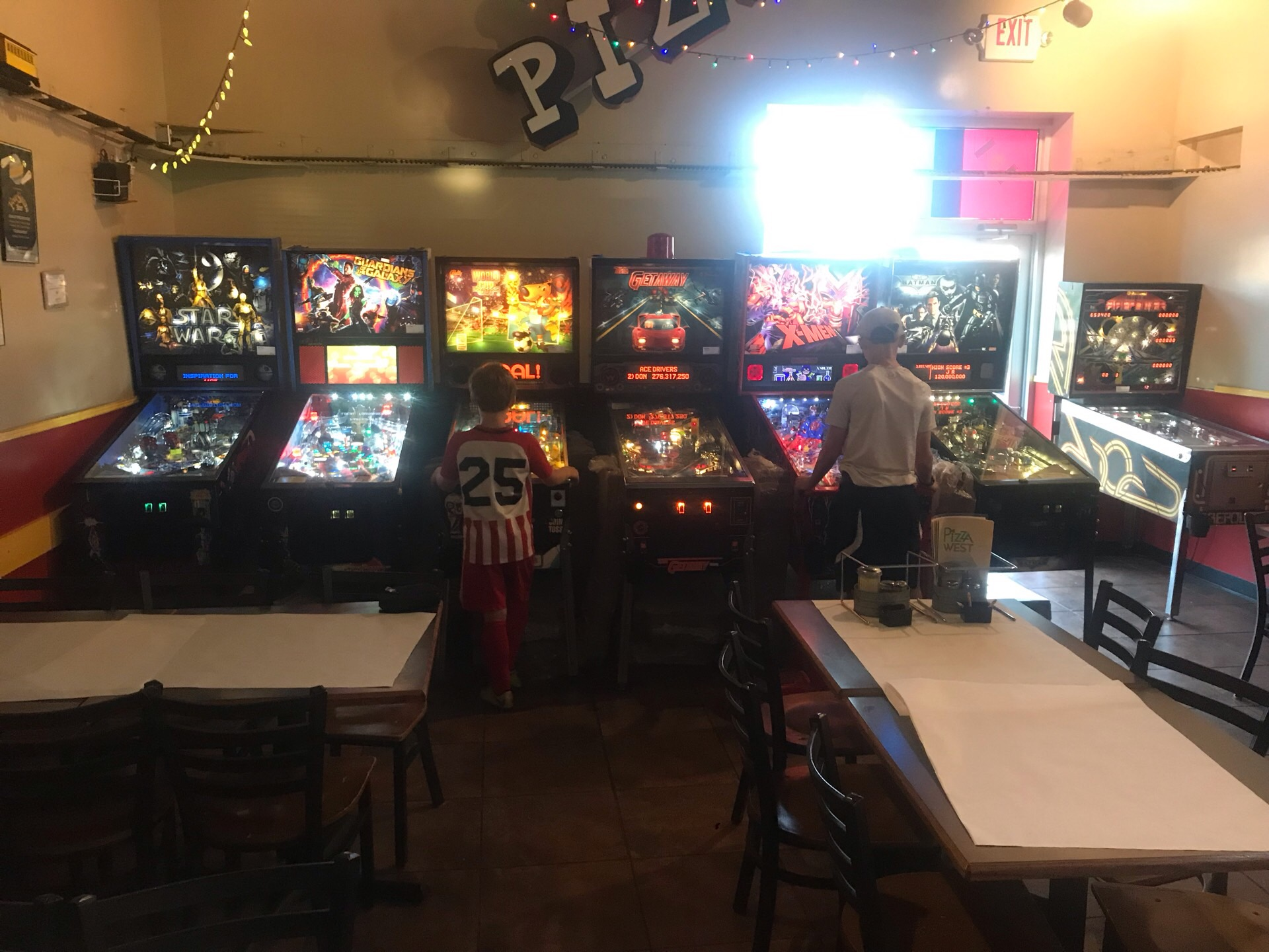 Pizza West Pinball Lineup