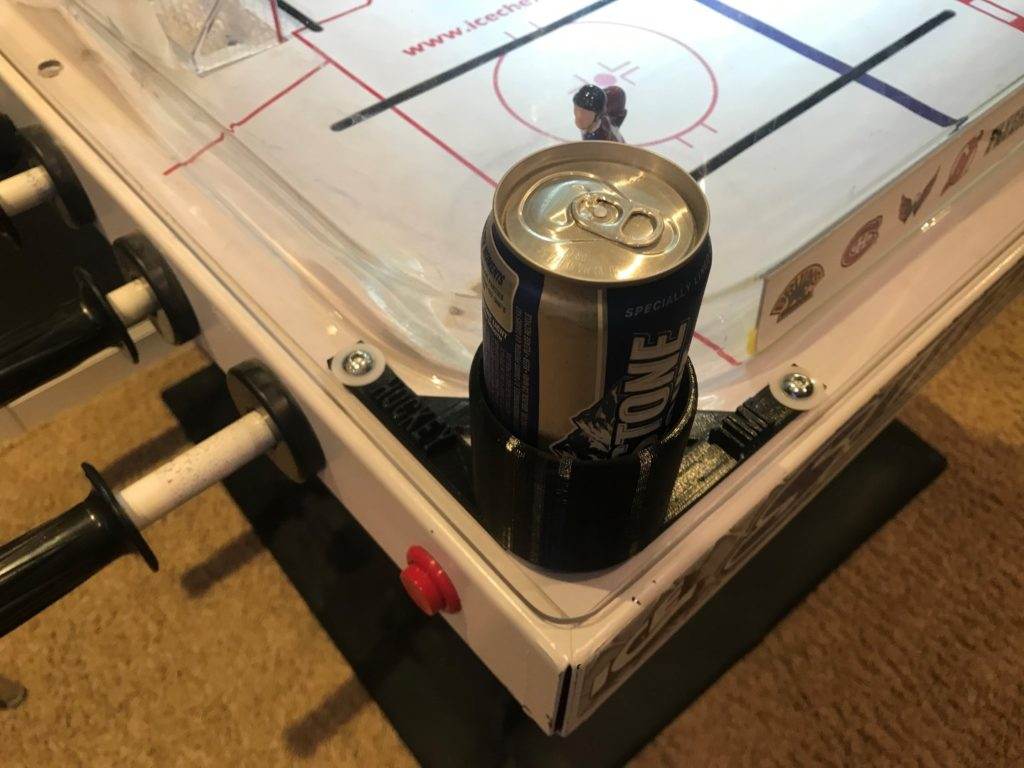 bubble hockey cup holder