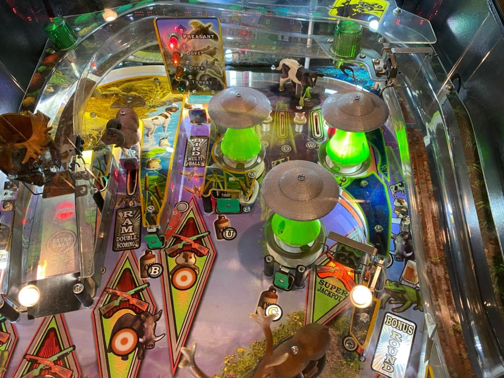 Big Buck Hunter UFO Pop Bumper Pinball Mod